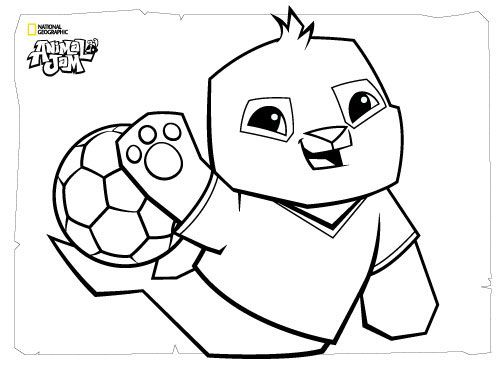 Animal Jam Coloring Pages The Daily Explorer With Images