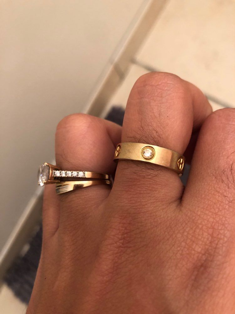 Love Rings Couple Rings In 2020 Cartier Wedding Bands Love