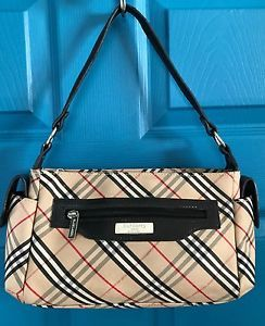 3801c090ff83db Authentic Burberry Blue Label Nova Check Handbag + Certificate Of  Authenticity | eBay