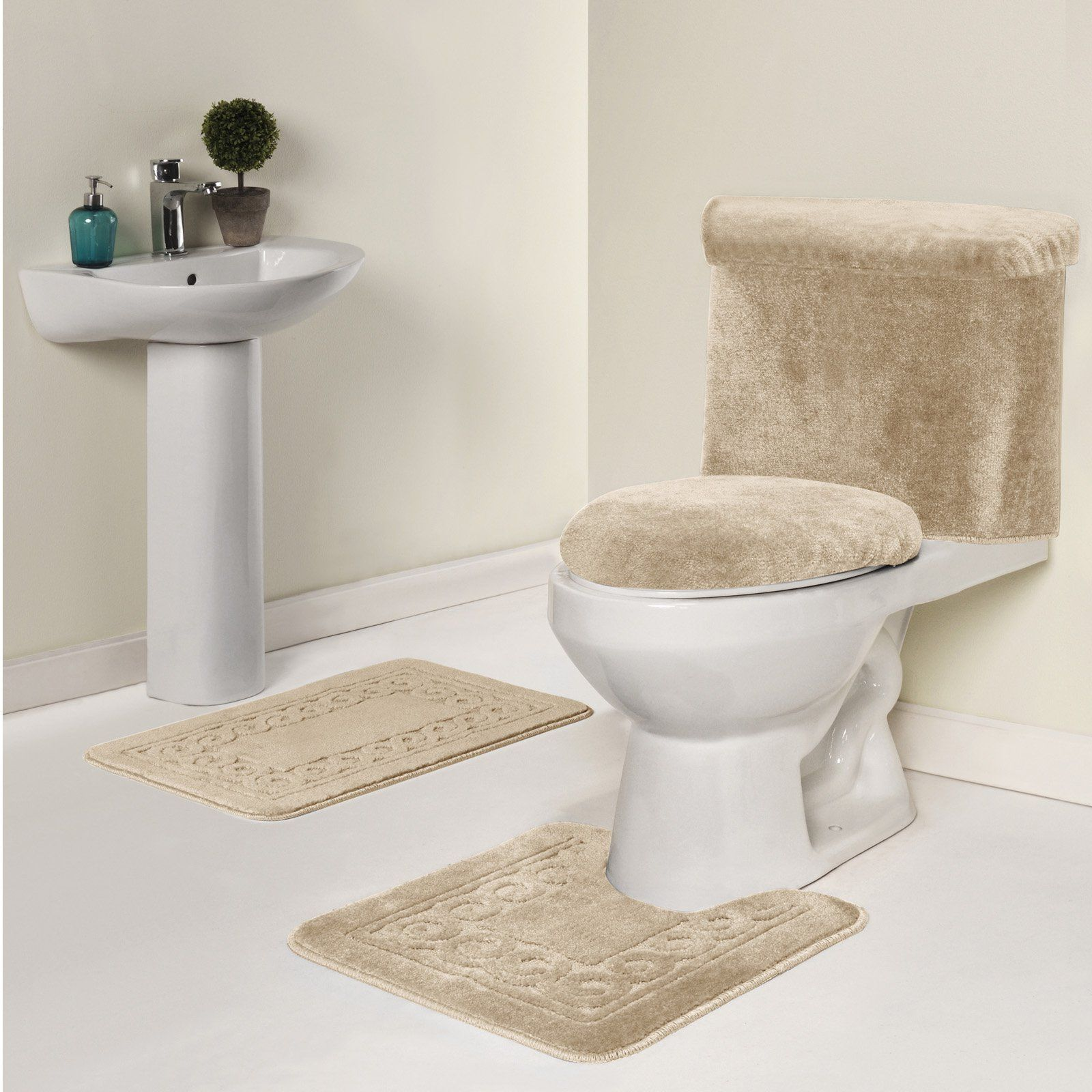 Madison Industries Scroll 5 Piece Bath Rug Set Scroll 5pc Bi