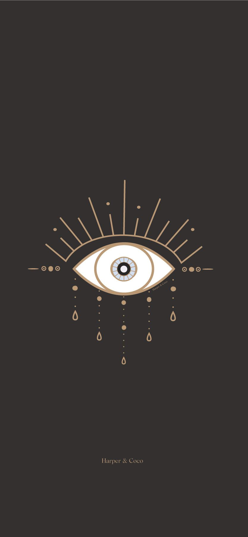 Evil eye gold and black digital print, bohemian poster, black gold ...