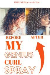 A completely affordable curl activating spray Perfect for waking up your sleepy curls This is a musthave productMy Genius Curl Spray