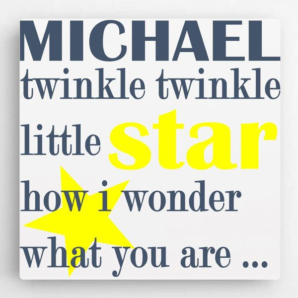 Twinkle Little Star Canvas - Boy - Personalized | Twinkle twinkle ...