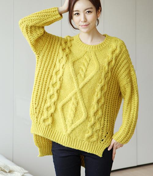 Secret2Girls] Cable Knit Plus Size Sweater | Comfy | Pinterest ...