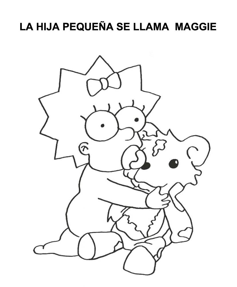 Escuela infantil castillo de Blanca: COLOREAR FAMILIA SIMPSON | LOS ...
