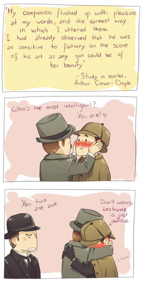 Hahahahaha!!! So silly!… but I did picture something like this when I first read 'A Study in Scarlet'