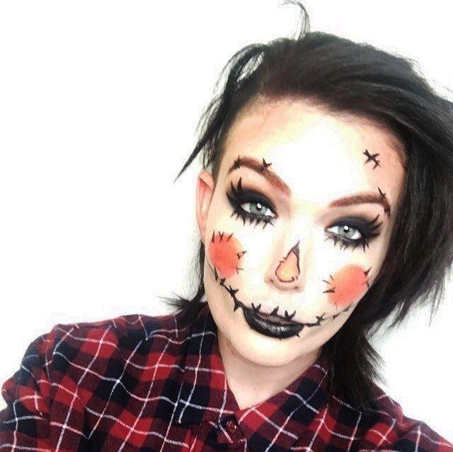 13 Incredibly Easy Halloween Makeup Ideas Eyeliner and Halloween - halloween makeup ideas easy