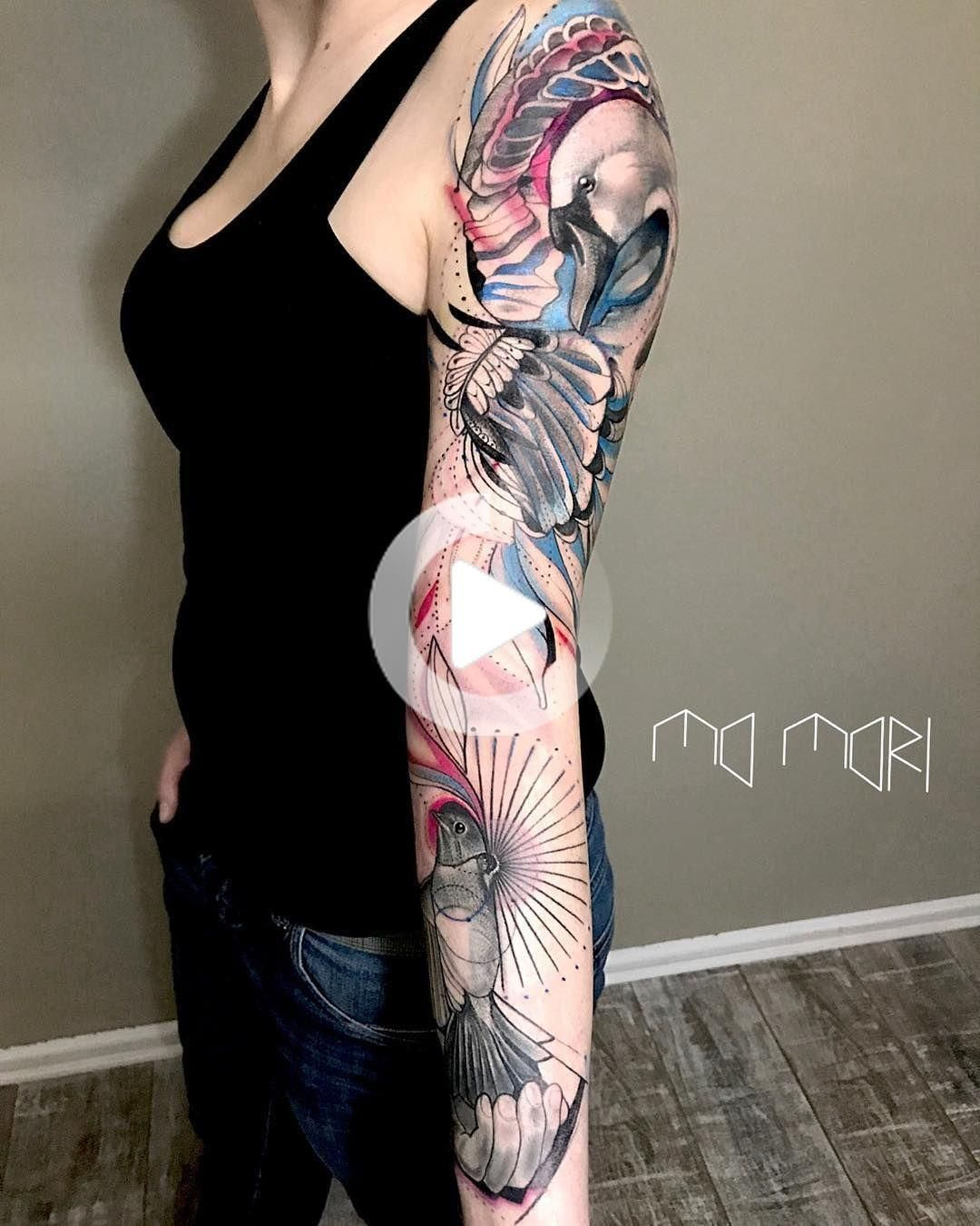 Tattoo artist Mo Mori authors style sketch watercolor tattoo | Germany, Berlin | #inkpplcom #colortattoo #sketch #watercolor #brighttattoo #sketchstyletattoo #fullcolortattoo #animalstattoo #authorsstyle