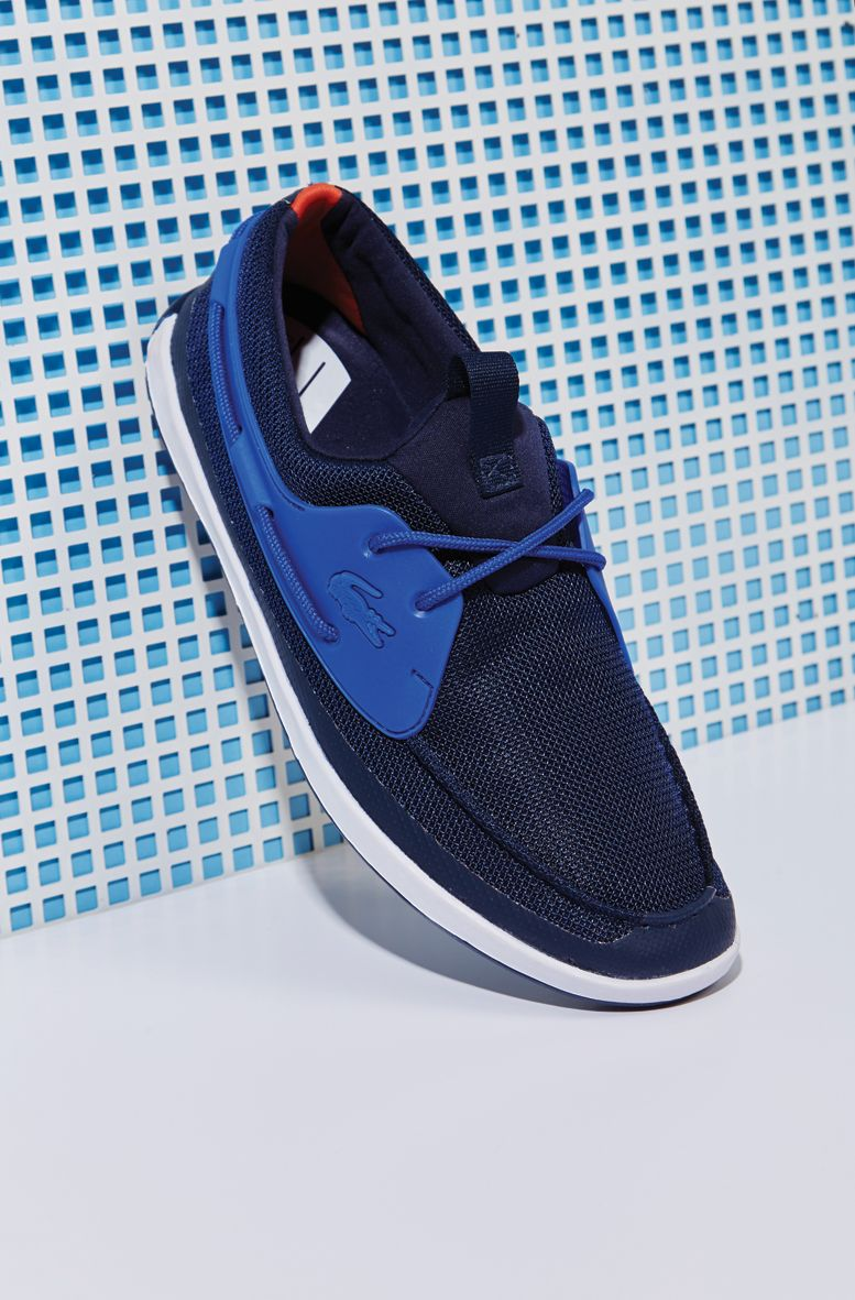 76b6f9c45f2f10 Kick off the week in style with comfortable blue summer shoes by Lacoste.