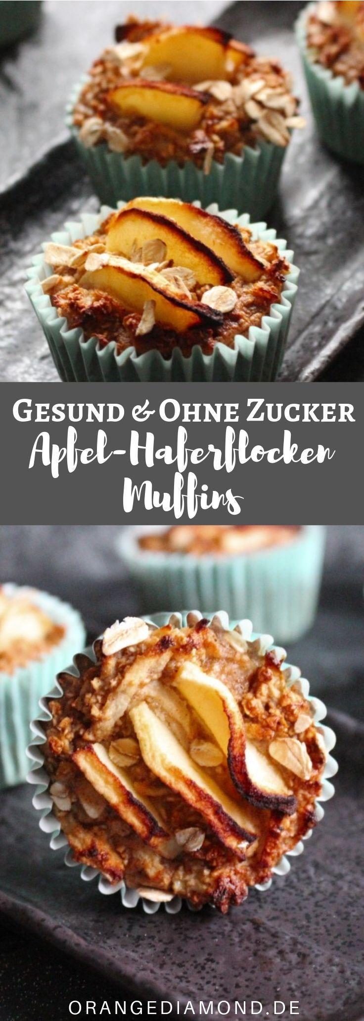 Gesunde Apfel-Haferflocken-Muffins [Rezept]