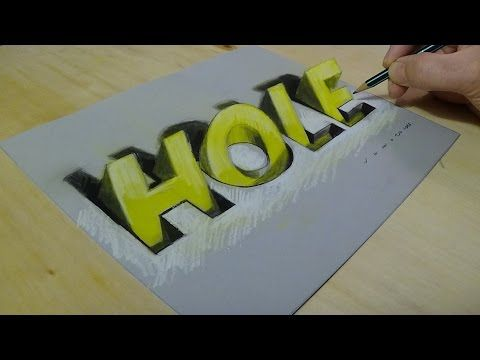 New viewpoint 3d drawing letters how to draw hole letters youtube