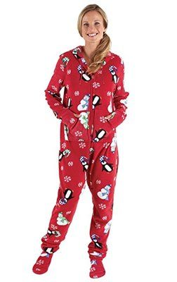 PajamaGram Women's Onesie Pajamas (Hoodie-Footie Fleece Pajamas) #pajamagram