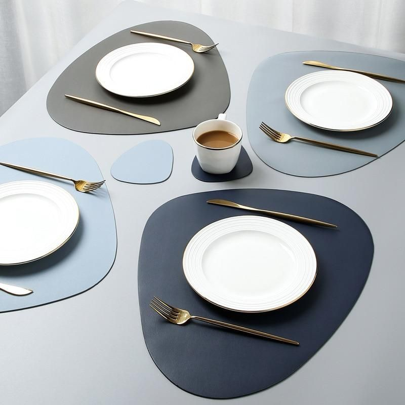 Tableware Leather Placemats In 2020 Tableware Placemats Table Pads