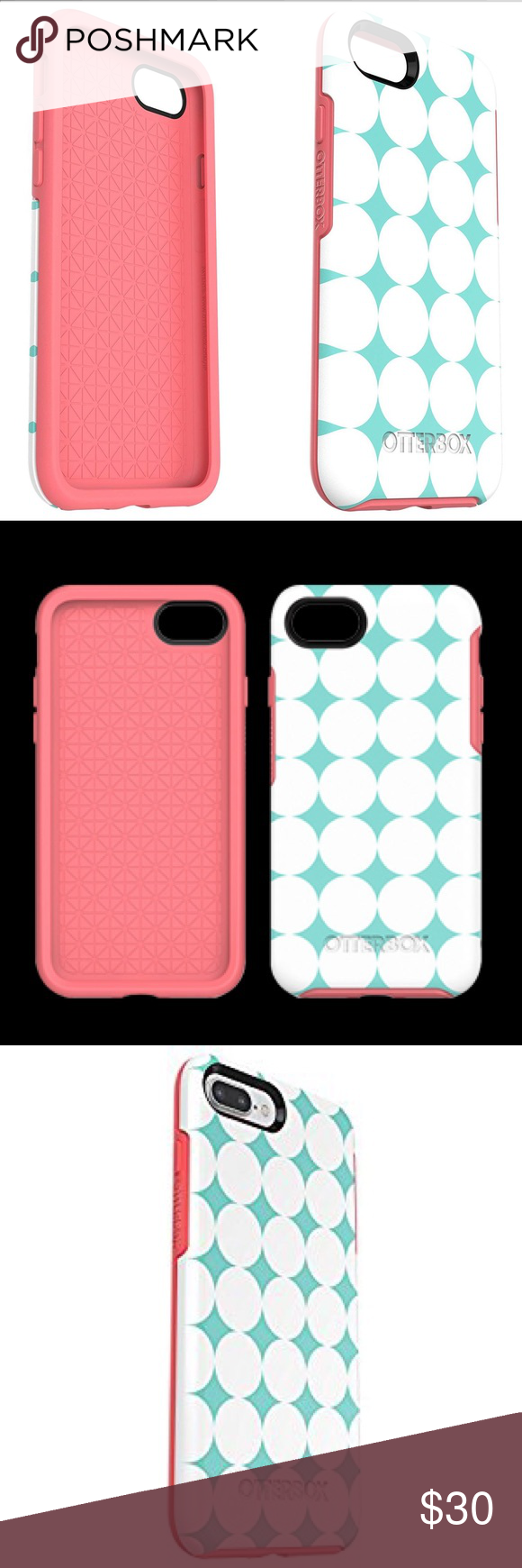 hot sale online 2a10b d1e71 OtterBox iPhone 7 Symmetry Case - Blue/Pink Get sleek and stylish ...