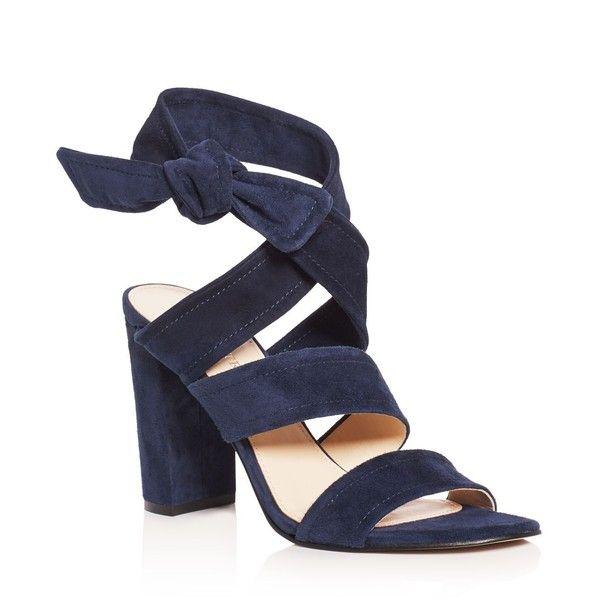 Ivanka Trump Kiffie Ankle Tie High Heel Sandals (€125) ❤ liked on Polyvore