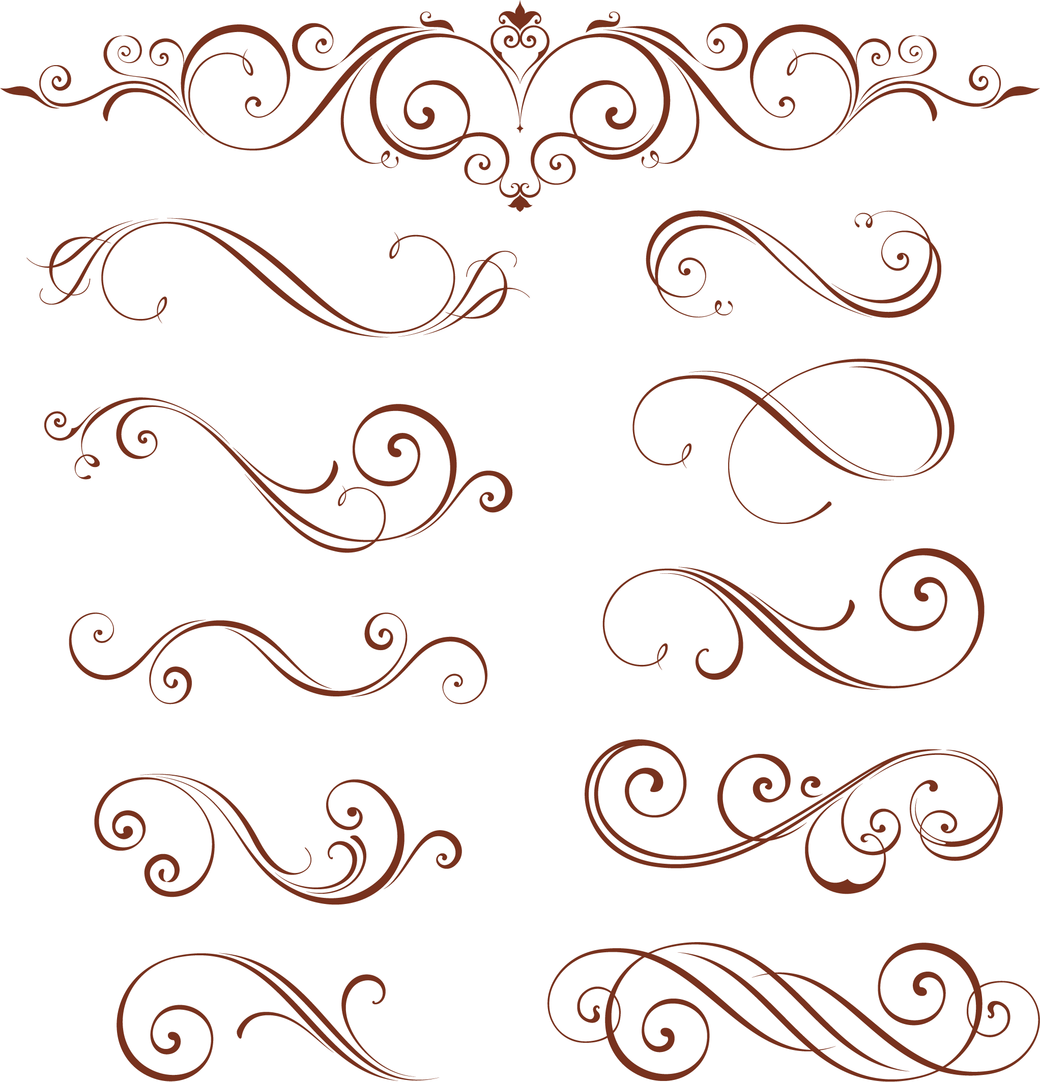 Calligraphic Design Elements For Page Decorations 3 25 Eps Svg Patterns Bundle Svg Art Png Texture Jpg Frame Eps Print Clipart In 2021 Page Decoration Swirl Design Pattern Flower Coloring Pages