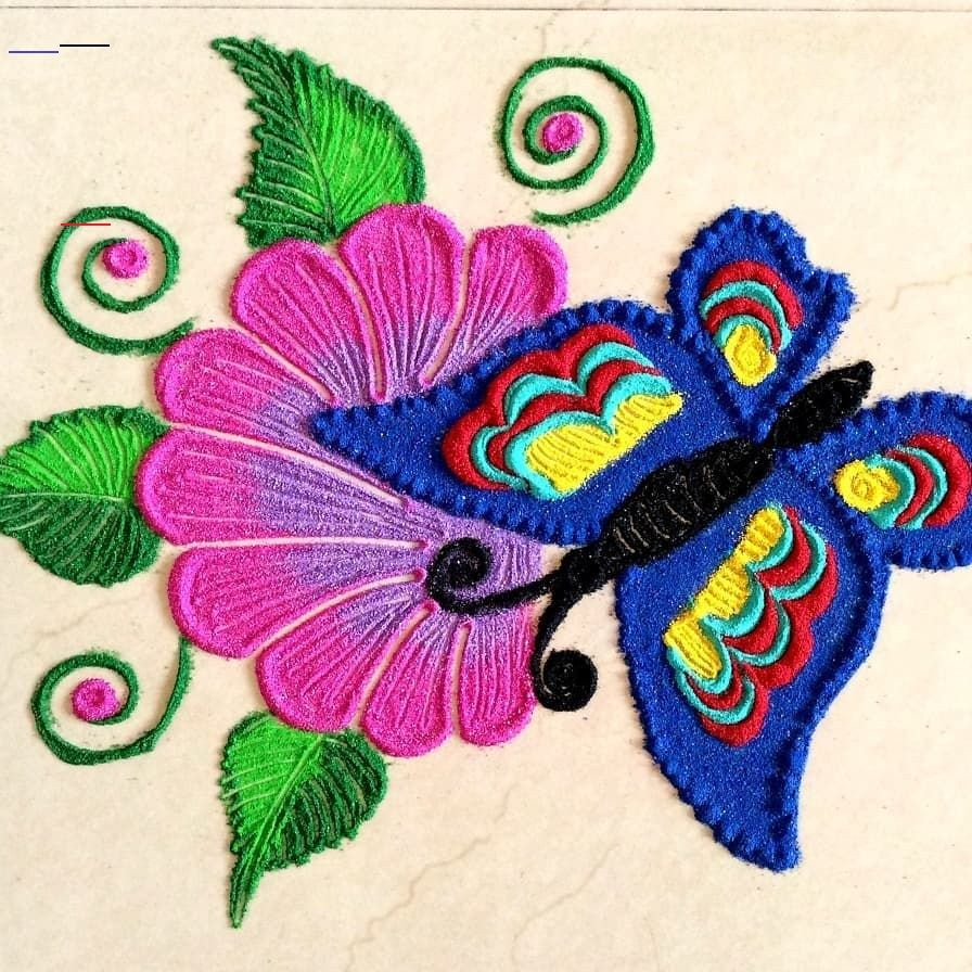 Butterfly Rangoli Design CamYogi rangolidesignsdiwali