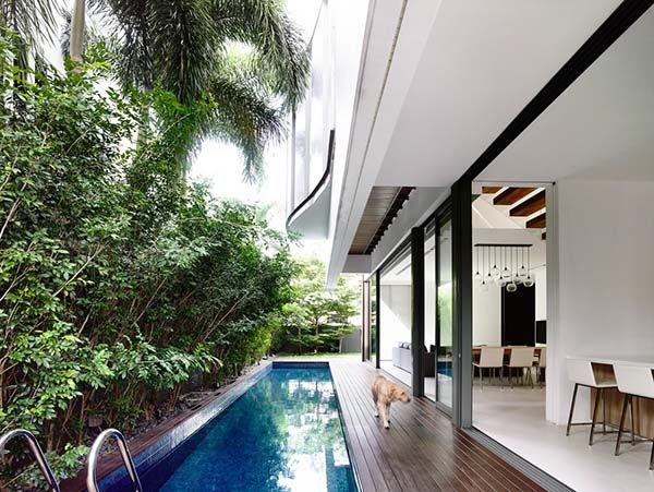 Stunning Semi Detached House In Singapore Eng Kong Garden Architect Modern Residential Architecture Architecture