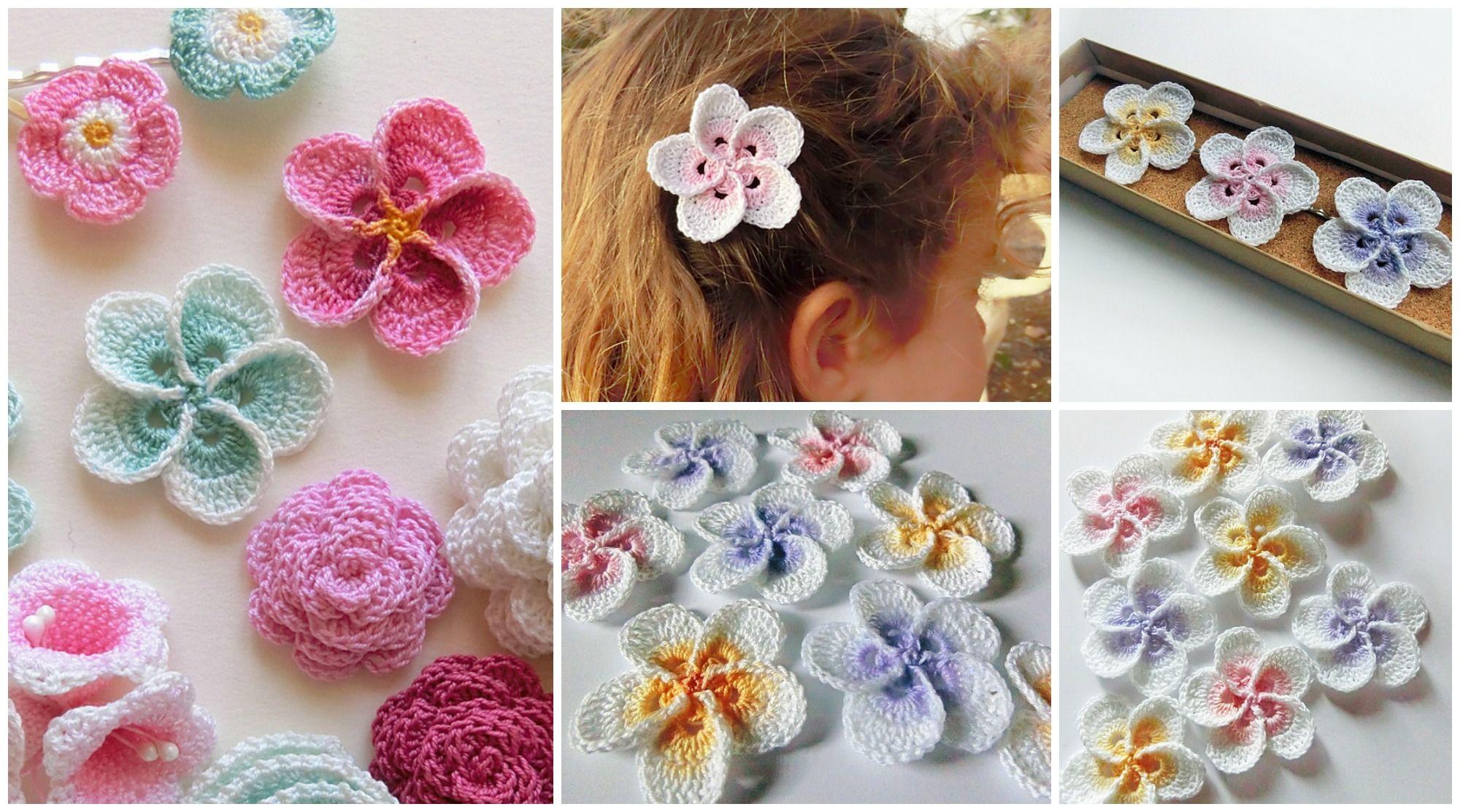 Crochet Hawaiian Plumeria Crochet Pinterest Crochet Crochet