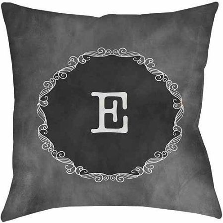 Thumbprintz Chalkboard Scroll Monogram Grey Decorative Pillows Gray Beauteous Gray Decorative Bed Pillows