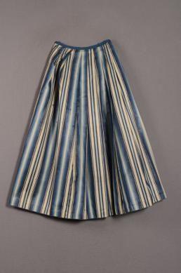 c. 1750-1800 Underskirt (petticoat?) of Blue striped cotton (mohair)
