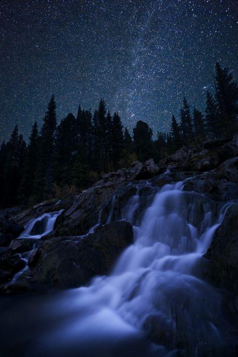 Night Time Lapse Waterfall Photo By Ermolickij Aleksandr Waterfall Landscape Photography Landscape