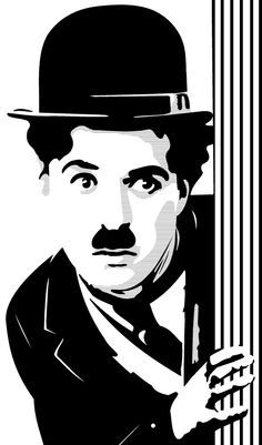 stencil de charlie chaplin buscar con google movie pinterest stenciling silhouettes and. Black Bedroom Furniture Sets. Home Design Ideas