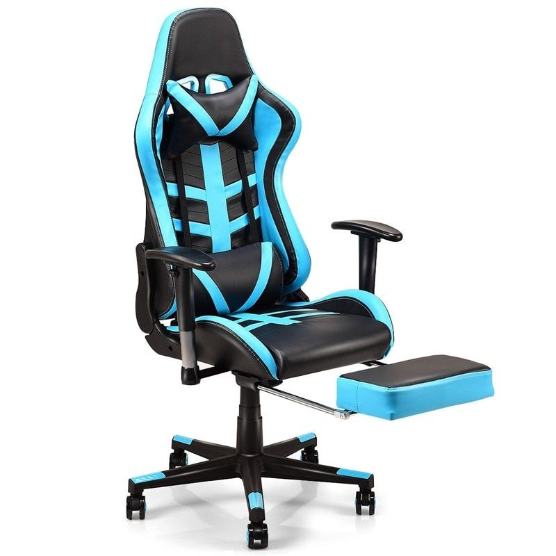 Ergonomic pu leather high back swicel chairs racing