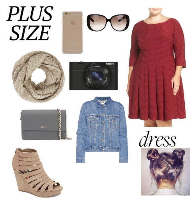 """""""Plus size"""" by kenzie4ever11 on Polyvore featuring Gabby Skye, Madden Girl, Agent 18, John Lewis, Sony, Gucci, DKNY, Acne Studios and plus size dresses"""