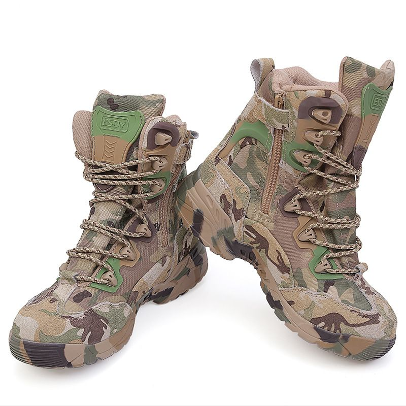 13636307d989c Rubber Boots Men 39-45 Outdoor Hiking Shoes Waterproof Tactical Shoes  Camping Trekking CP Army Boots Camouflage Outdoor Shoes