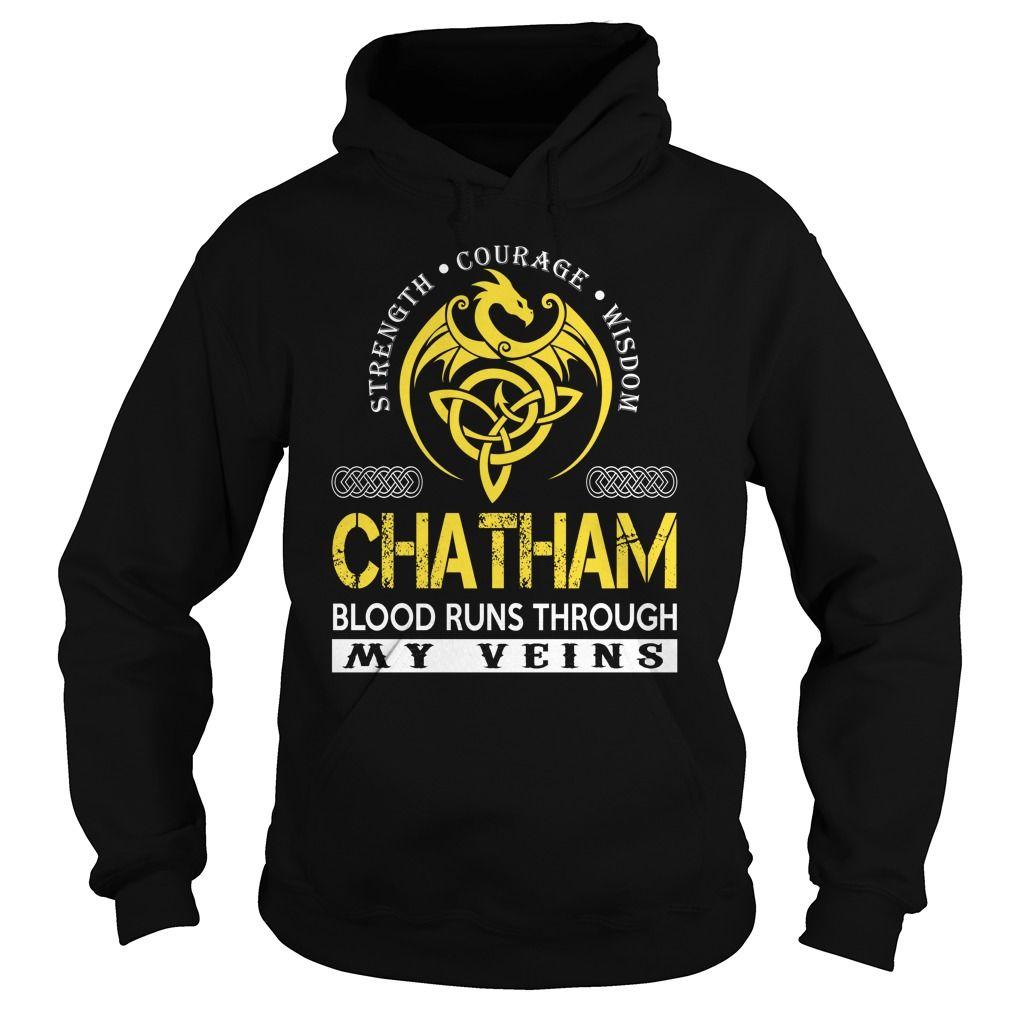 CHATHAM Blood Runs Through My Veins - Last Name, Surname TShirts