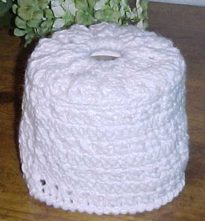 Cross Stitch Toilet Tissue Cover Crochet Pattern Free