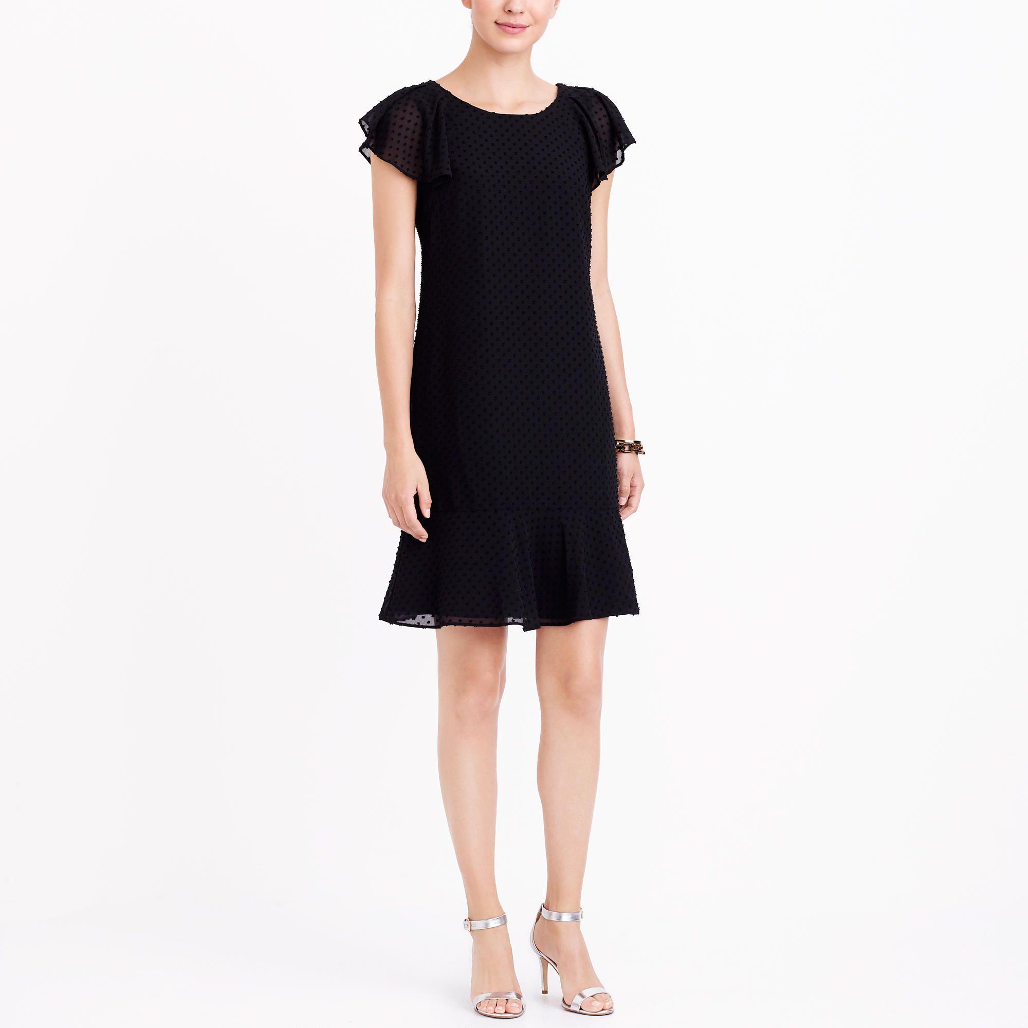 Ruffle sleeve flounce dress in swiss dot my style pinterest