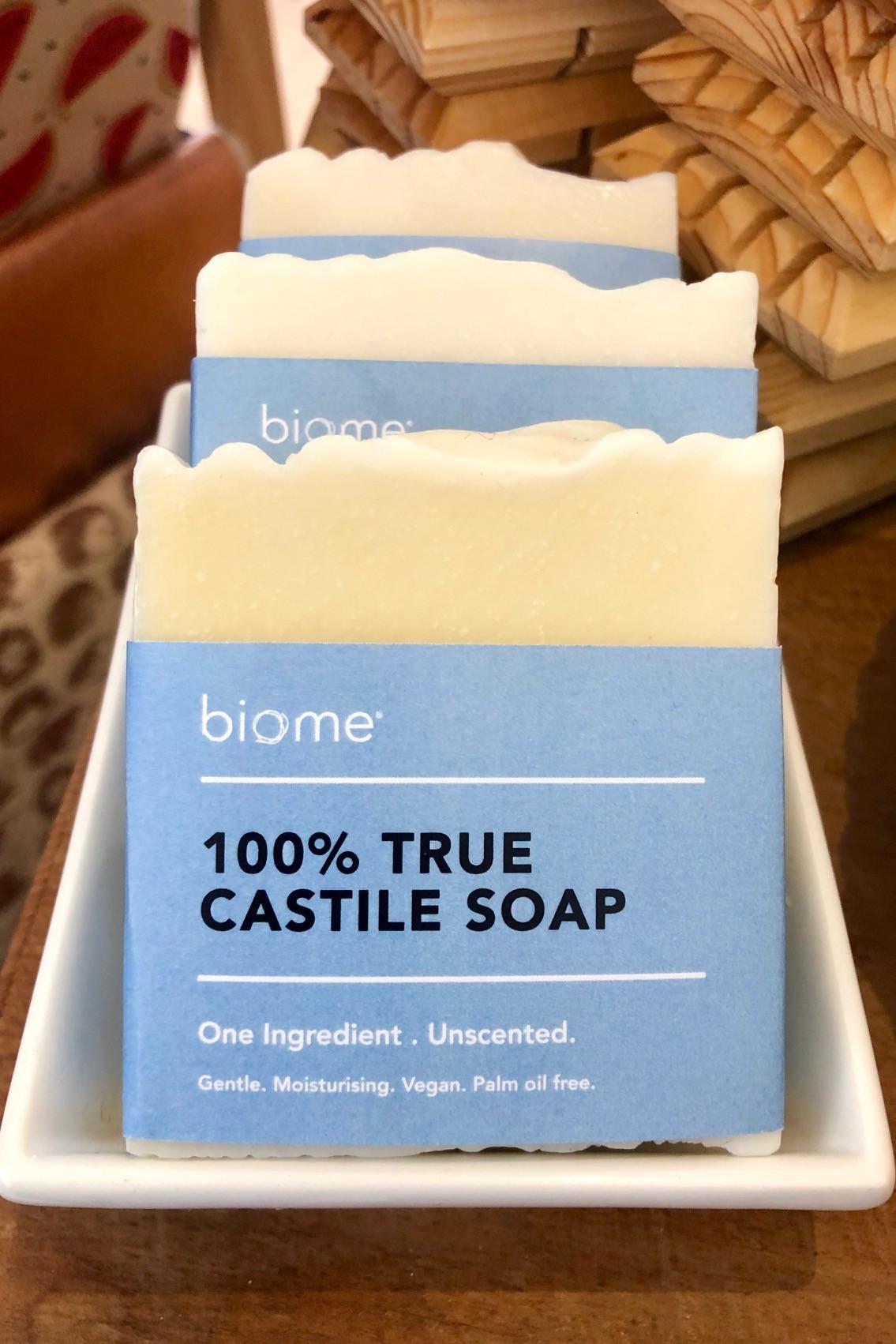 Biome True Castile Soap Bar 100 Olive Oil Unscented 110g