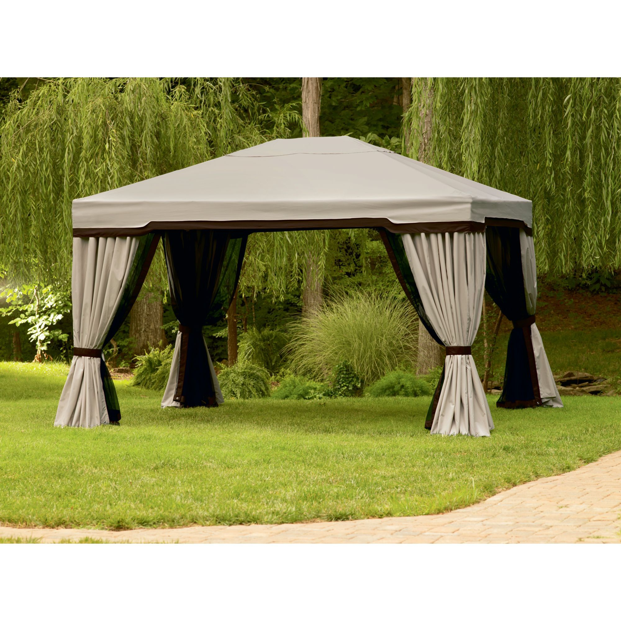Captivating Essential Garden Privacy Gazebo X