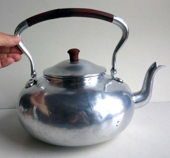 Vintage Aluminum Tea Kettle Made In Germany Watering Tea Kettle