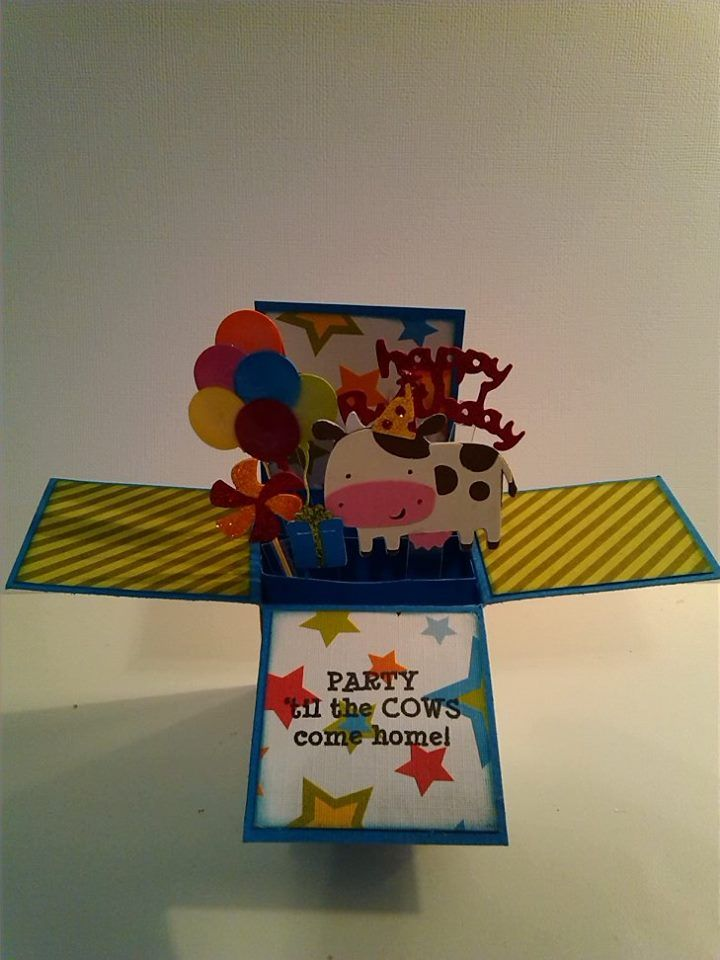Exploding box birthday card boxed birthday cards
