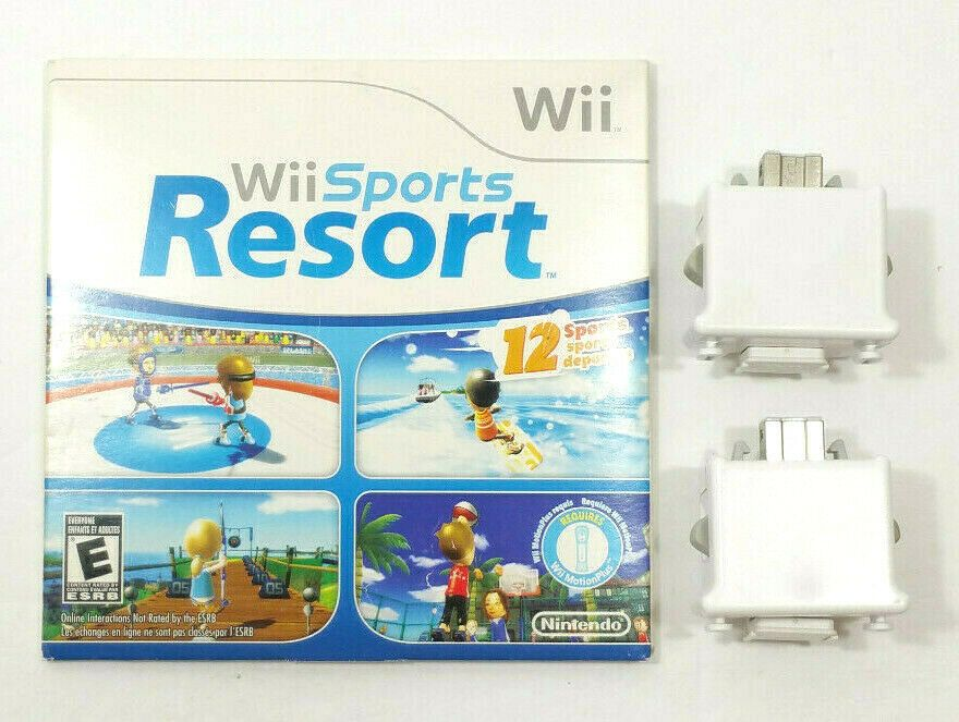 Nintendo Wii Sports Resort Game and 2 Remote Motion Plus