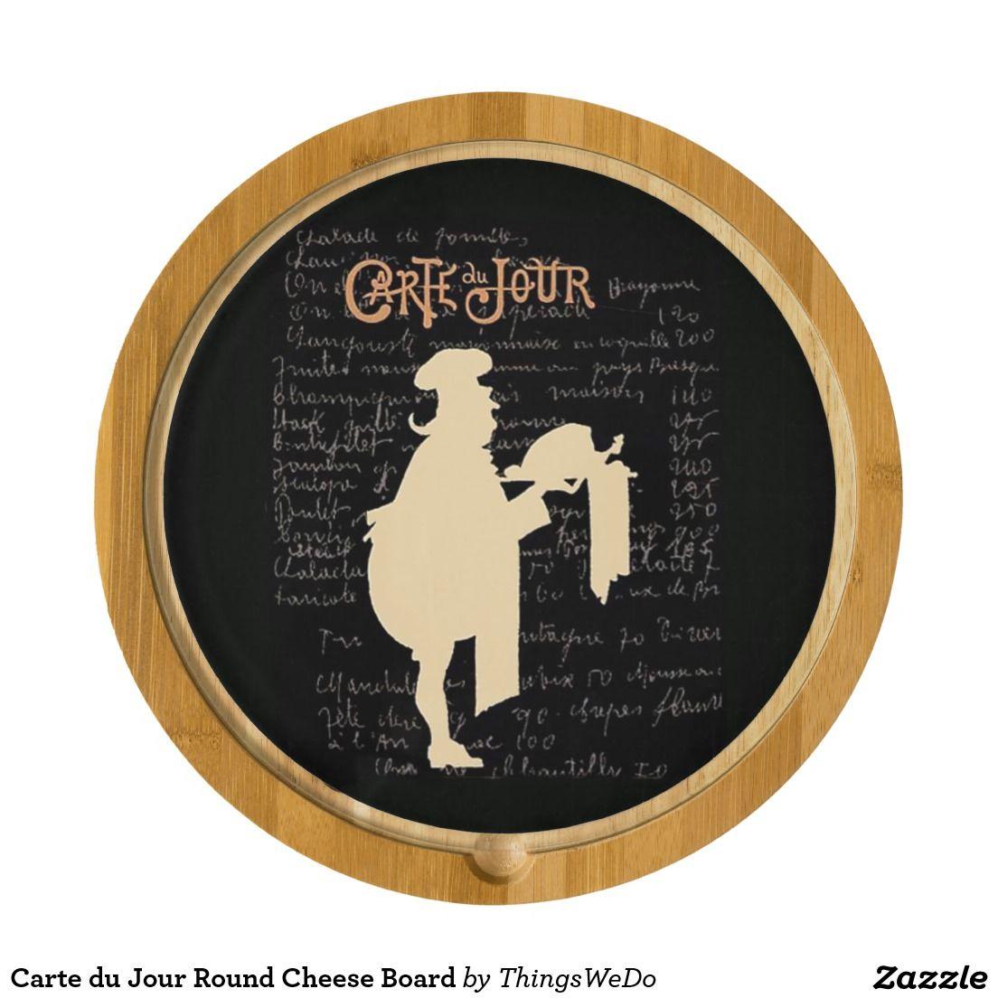 Carte du Jour Round Cheese Board