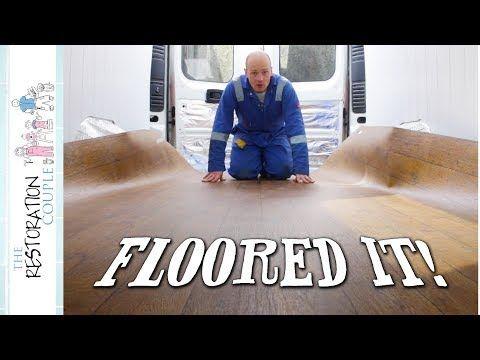 Fitting CAMPERVAN FLOORING | TRC Van Conversion 18 0 - YouTube | Van