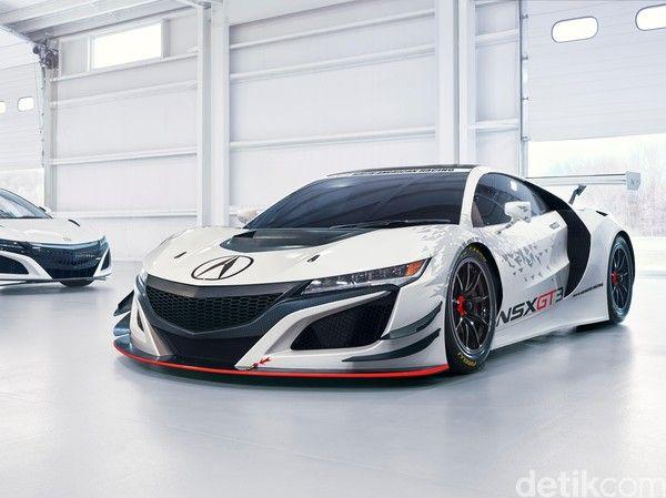 Honda Acura Versi Balapan Gt3 Mobil Sport Mobil Kendaraan