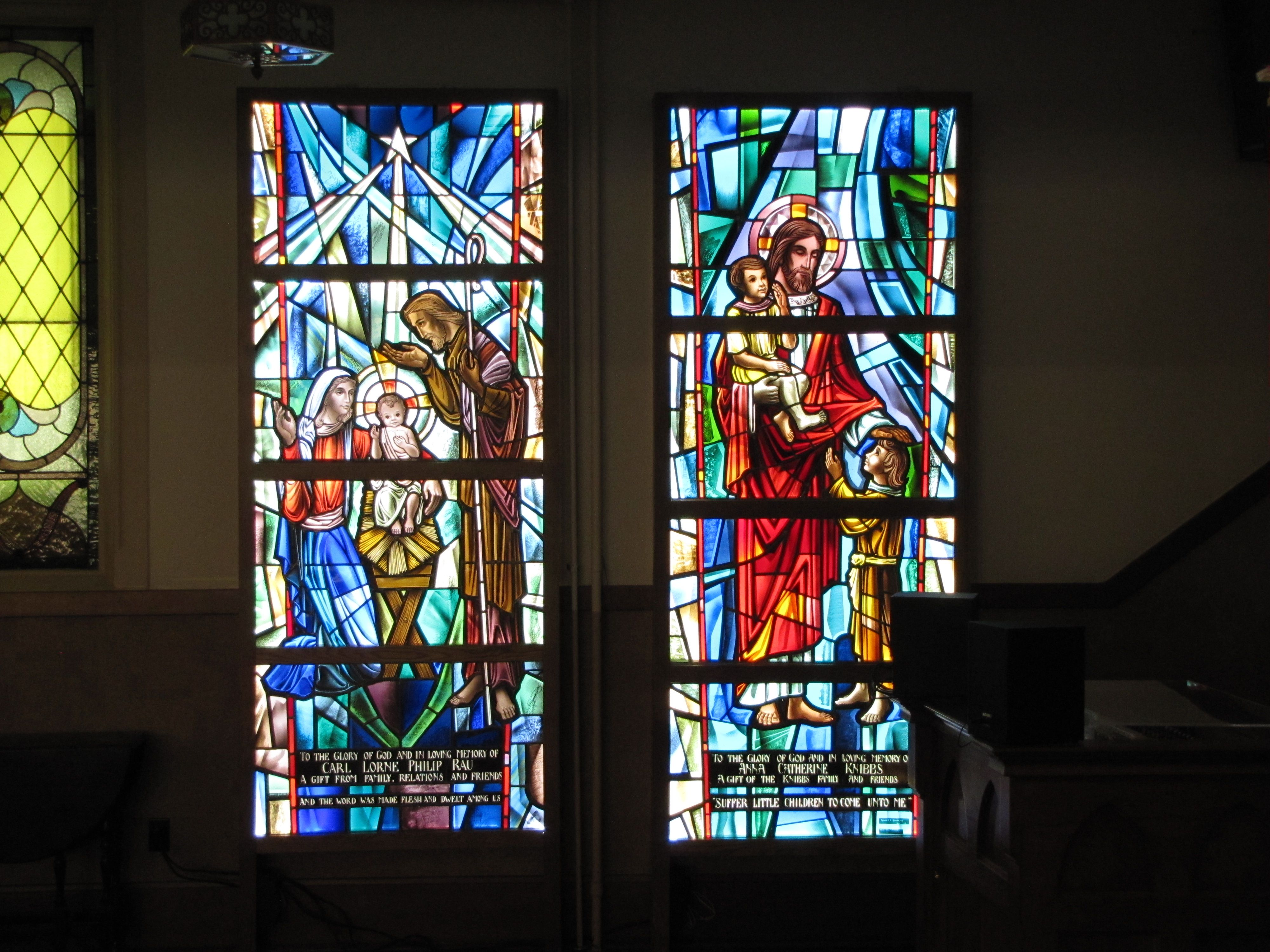 Beautiful Custom Stained Glass Renovation Project At First Wesley United Church Backlighting Art