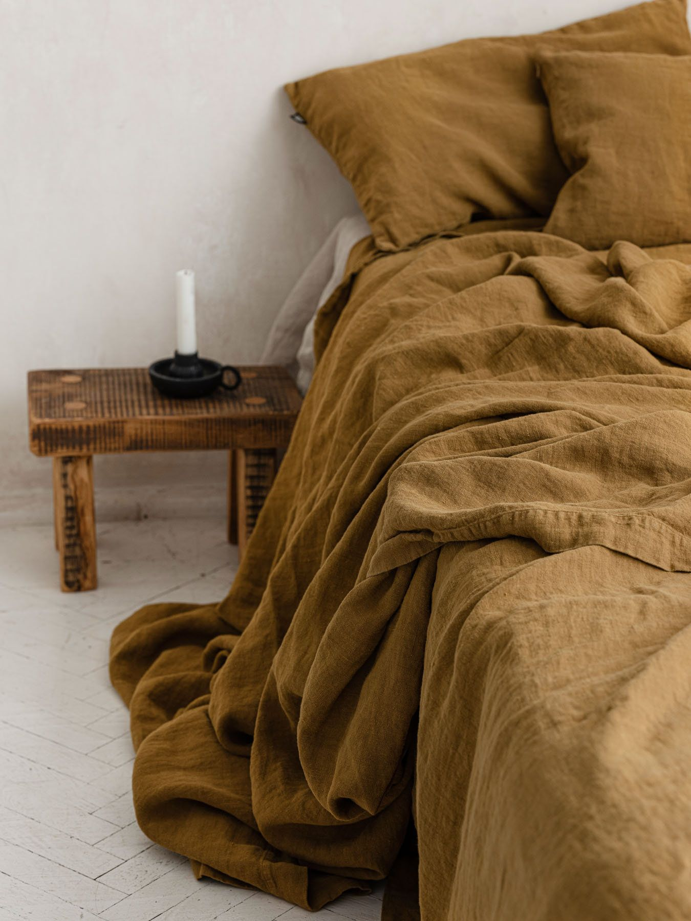 Mustard Linen Bedspread Honey Linen Bed Cover Solid Golden Etsy Linen Bed Cover Linen Bedspread Bed Spreads