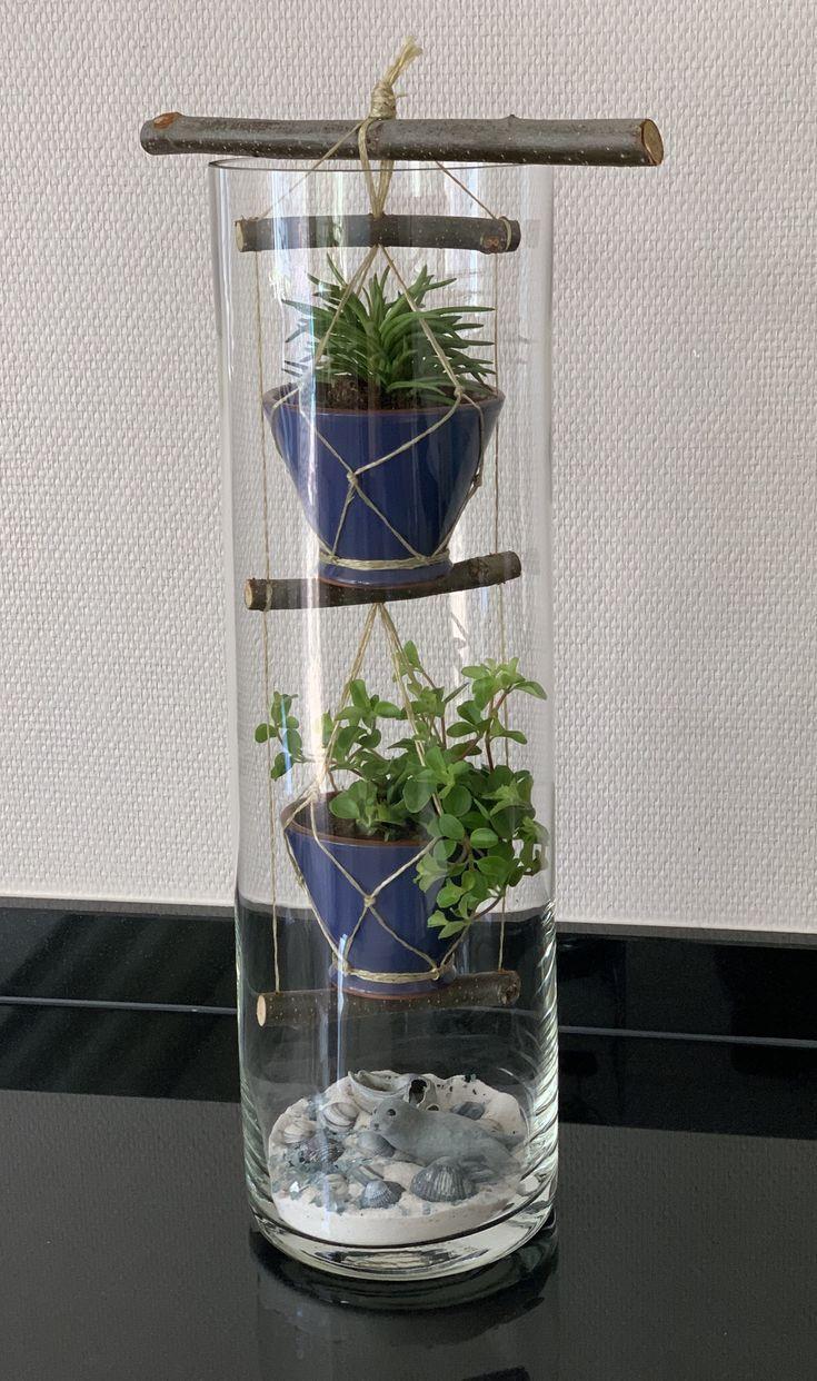 Groen In Hoge Vaas Met Schelpen Decoratie Art Floral Plant Decor House Plants Decor Plants