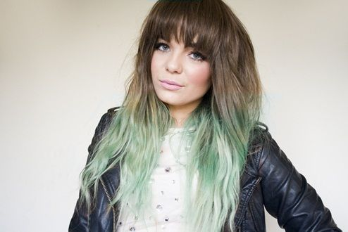 Mint Ombre Brown Hair Hair Pinterest