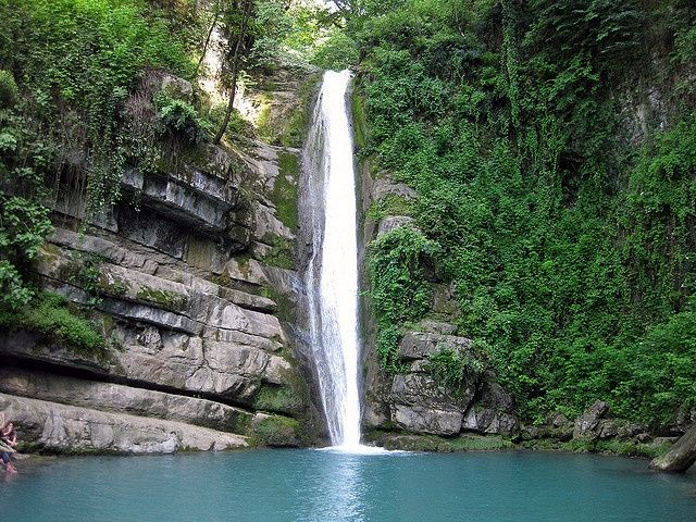 Shir Abad Waterfall In Northern Iran Plunge Pool