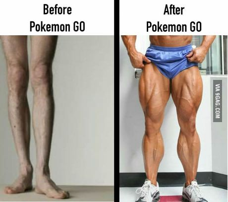 Before and After Pokemon GO... | Pokemon go, Funny memes, Funny workout  pictures