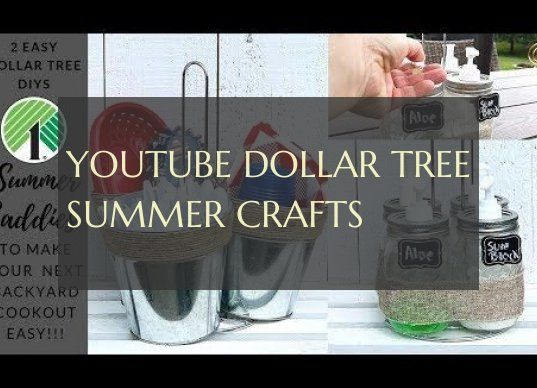 youtube dollar tree summer crafts