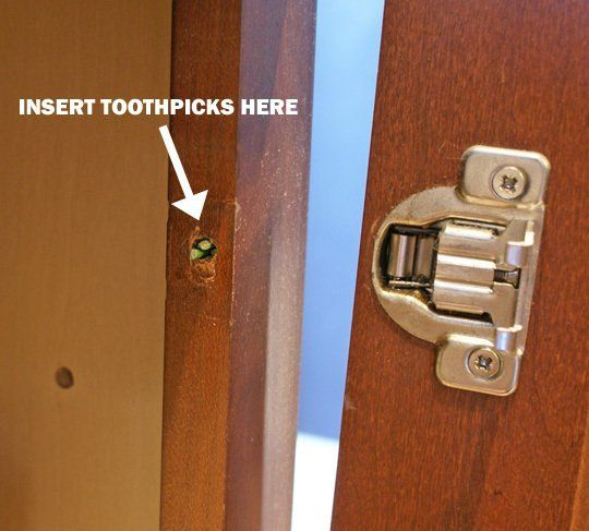 Quick Fix: Use Toothpicks in Stripped Screw Hole