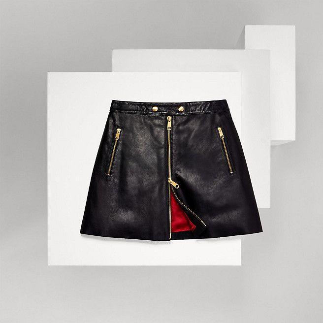 424fc401638 Tommy Hilfiger Leather Zip Front Skirt - master black (Black) - Tommy  Hilfiger - main image